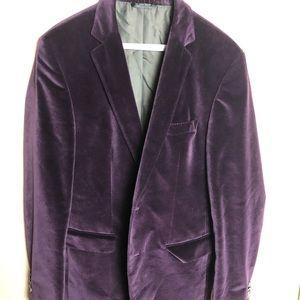 Boss Hugo Boss Sports Coat Suit Jacket Purple